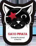 logotipo Gato Pirata Comité Pro Animal A Mariña