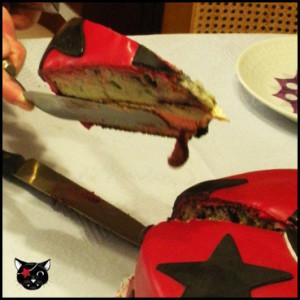 Ración tarta fondant Gato Pirata
